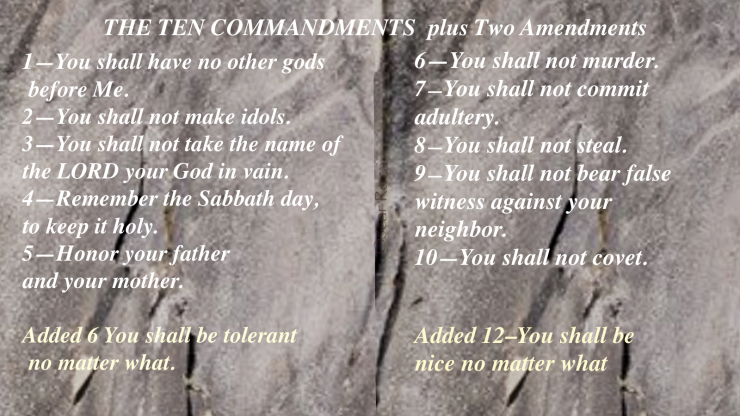 The Modern Day 10 commandments plus Amendments.png