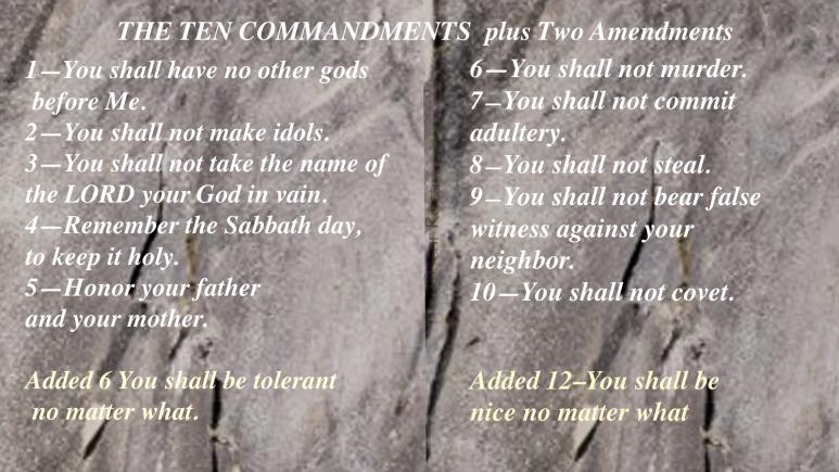 The Modern Day 10 commandments plus Amendments.png