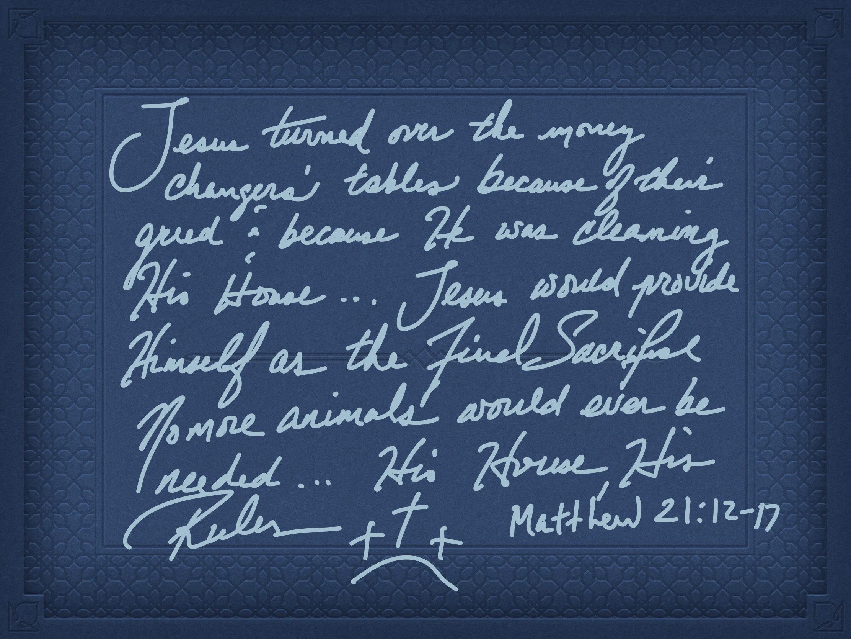 Matt 21:12-17