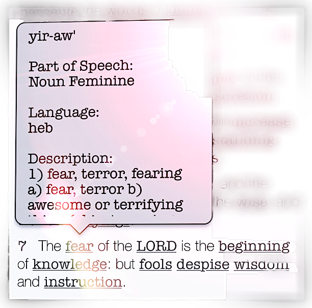 """Proverbs 1:7-KJV  """"The fear of the LORD is the beginning of knowledge; but fools despise wisdom and instruction."""""""